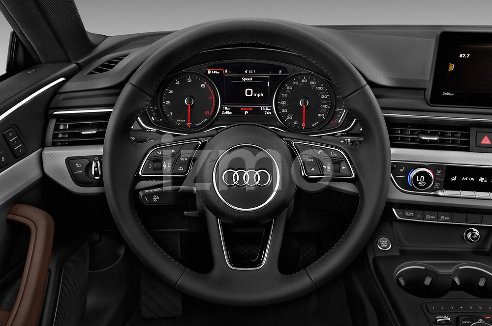 Car pictures of steering wheel view of a 2018 Audi A5  Premium 2 Door Coupe