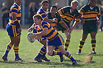 Kane Hancy heads infield trying to set up a counter attack. CMRFU Counties Power Premier Club Rugby game between Patumahoe & Pukekohe played at Patumahoe on April 12th, 2008..The halftime score was 10 all with Pukekohe going on to win 23 - 18.