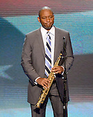 Saxophonist, Composer, and Bandleader Branford Marsalis performs the National Anthem at the 2012 Democratic National Convention in Charlotte, North Carolina on Wednesday, September 5, 2012.  .Credit: Ron Sachs / CNP.(RESTRICTION: NO New York or New Jersey Newspapers or newspapers within a 75 mile radius of New York City)