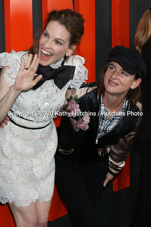 """LOS ANGELES - MAR 9:  Juliette Lewis, Hilary Swank at the """"The Hunt"""" Premiere at the ArcLight Hollywood on March 9, 2020 in Los Angeles, CA"""