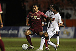 10 November 2010: BC's Charlie Rugg (left) and Duke's Jonathan Aguirre (right). The Duke University Blue Devils played the Boston College Eagles at Koka Booth Stadium at WakeMed Soccer Park in Cary, North Carolina in an ACC Men's Soccer Tournament Quarterfinal game.