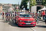 The start of La Fl&egrave;che Wallonne Femmes 2019, running 118.5km from Huy to Huy, Belgium. 24th April 2019<br /> Picture: ASO/Thomas Maheux | Cyclefile<br /> All photos usage must carry mandatory copyright credit (&copy; Cyclefile | ASO/Thomas Maheux)