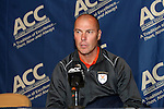 10 November 2010: Virginia head coach George Gelnovatch. The University of Virginia Cavaliers defeated the Wake Forest University Demon Deacons 1-0 at Koka Booth Stadium at WakeMed Soccer Park in Cary, North Carolina in an ACC Men's Soccer Tournament Quarterfinal game.