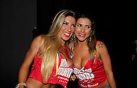 SAO PAULO, SP, 24 DE FEVEREIRO 2012 - CAMAROTE BAR BRAHMA - A Rainha da Bateria da Gavioes da Fiel, Tatiane Minerato e a Musa da Gavioes da Fiel, Ana Paula Minerato e vista no Camarote Bar Brahma, na noite do Desfile das Campeas do Carnaval de Sao Paulo, na noite desta sexta, 24 no Sambodromo do Anhembi regiao norte da capital paulista. (FOTO: MILENE CARDOSO - BRAZIL PHOTO PRESS).