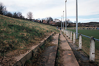 General view of Durham City FC Football Ground, Ferens Park, The Sands, Durham, pictured on 4th April 1994