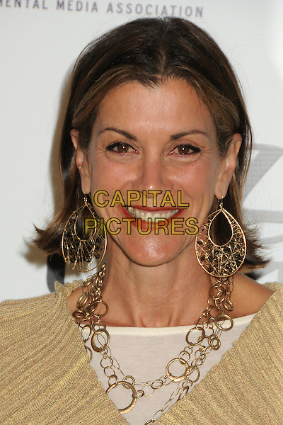 Wendie Malick.2011 Environmental Media Awards held at Warner Bros. Studios, Burbank, California, USA, 15th October 2011 .portrait headshot  smiling earrings dangly  gold necklace  red lipstick .CAP/ADM/BP.©Byron Purvis/AdMedia/Capital Pictures.