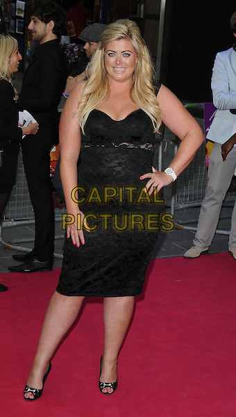 Gemma Collins.'Katy Perry: Part of Me 3D' european film premiere, Empire cinema, Leicester Square, London, England..3rd July 2012.full length dress hand on hip black lace one shoulder .CAP/CAN.©Can Nguyen/Capital Pictures.