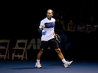 Steve Darcis (BEL) against Sam Groth (AUS) during Day 1 of the Australian Open, Melbourne, Australia - 16/01/2017  (Photo by Mike Frey/Photonews)