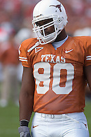 09 September 2006: Texas defender Tim Crowder pauses between warmups prior to the Longhorns 24-7 loss to the Ohio State Buckeyes at Darrell K Royal Memorial Stadium in Austin, TX.