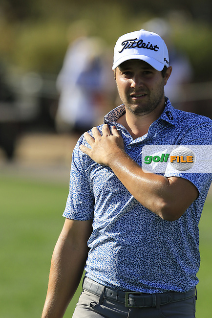 Peter Uihlein (USA) walks to the 10th tee to start his match during Sunday's Final Round of the Waste Management Phoenix Open 2018 held on the TPC Scottsdale Stadium Course, Scottsdale, Arizona, USA. 4th February 2018.<br /> Picture: Eoin Clarke | Golffile<br /> <br /> <br /> All photos usage must carry mandatory copyright credit (&copy; Golffile | Eoin Clarke)