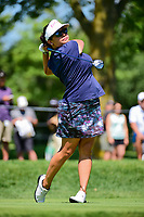 Jane Park (USA) watches her tee shot on 2 during Saturday's round 3 of the 2017 KPMG Women's PGA Championship, at Olympia Fields Country Club, Olympia Fields, Illinois. 7/1/2017.<br /> Picture: Golffile | Ken Murray<br /> <br /> <br /> All photo usage must carry mandatory copyright credit (&copy; Golffile | Ken Murray)