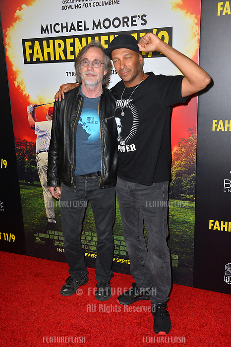 "LOS ANGELES, CA. September 19, 2018: Jackson Browne & Tom Morello at the Los Angeles premiere for Michael Moore's ""Fahrenheit 11/9"" at the Samuel Goldwyn Theatre.<br /> Picture: Paul Smith/Featureflash"