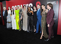 NEW YORK, NY - June 5: Gary Ross, Cate Blanchett, Awkwafina, Sarah Paulson, Anne Hathaway, Sandra Bullock, Mindy Kaling, Helena Bonham Carter, Rihanna and James Corden attends 'Ocean's 8' World Premiere at Alice Tully Hall on June 5, 2018 in New York City. <br /> CAP/MPI/JP<br /> &copy;JP/MPI/Capital Pictures