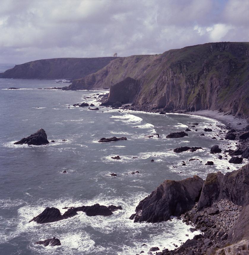 Rugged northern Cornish Coast, Cornwall, UK