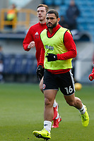 Cameron Carter-Vickers of Sheffield United (on loan from Tottenham Hotspur) warms up during the Sky Bet Championship match between Millwall and Sheff United at The Den, London, England on 2 December 2017. Photo by Carlton Myrie / PRiME Media Images.