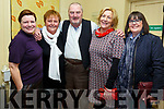 John B. Keanes the Matchmaker a Sold Out Success at Tech Amergin Waterville on Saturday night pictured here l-r; Mary McEvoy, Ann Landers, Jon Kenny, Adriane Dennehy & Elma Shine.