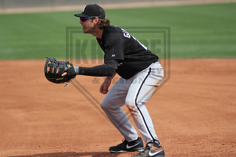 GLENDALE - March 2013: Nicholas Giarraputo (23)  of the Chicago White Sox during a Spring Training intrasquad game on March 21, 2013 at Camelback Ranch in Glendale, Arizona.  (Photo by Brad Krause). .