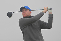 Ruairi O'Connor (Co. Sligo) on the 1st tee during Round 1 - Matchplay of the North of Ireland Championship at Royal Portrush Golf Club, Portrush, Co. Antrim on Wednesday 11th July 2018.<br /> Picture:  Thos Caffrey / Golffile