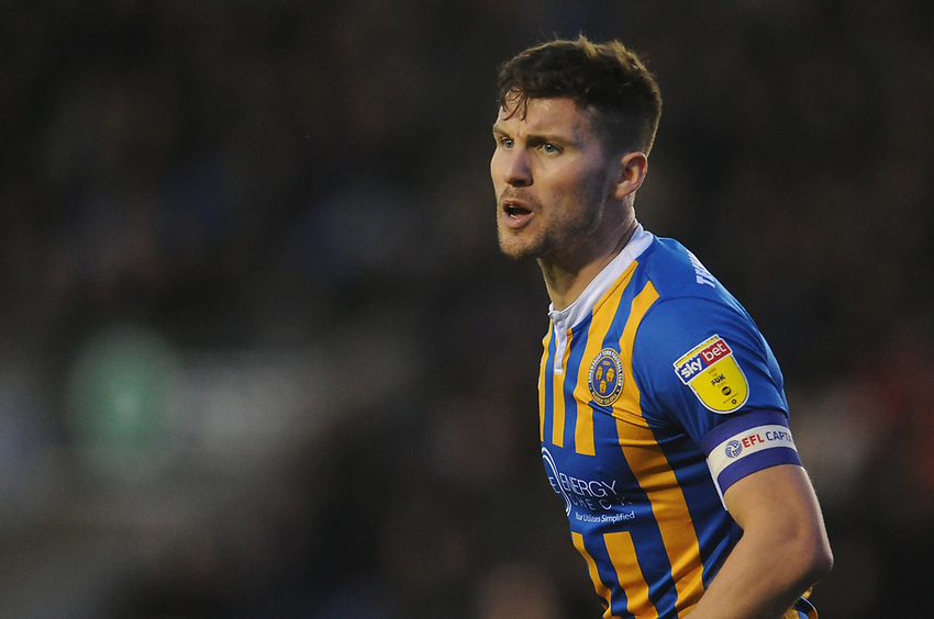 Shrewsbury Town's Matthew Sadler<br /> <br /> Photographer Kevin Barnes/CameraSport<br /> <br /> The EFL Sky Bet League One - Shrewsbury Town v Fleetwood Town - Tuesday 1st January 2019 - New Meadow - Shrewsbury<br /> <br /> World Copyright © 2019 CameraSport. All rights reserved. 43 Linden Ave. Countesthorpe. Leicester. England. LE8 5PG - Tel: +44 (0) 116 277 4147 - admin@camerasport.com - www.camerasport.com