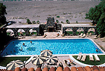 CA: Death Valley National Park, Furnace Creek Inn, swimming pool                     .Photo by Lee Foster, lee@fostertravel.com, www.fostertravel.com, (510) 549-2202.Image: cadeat218.