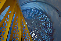 A LOOK DOWN STAIRS AT POINT IROQUOIS LIGHTHOUSE ON NEAR BRIMLEY, MICHIGAN.