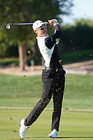 Haotong Li (CHN) on the 14th during the 1st round of the Abu Dhabi HSBC Championship, Abu Dhabi Golf Club, Abu Dhabi,  United Arab Emirates. 16/01/2020<br /> Picture: Fran Caffrey | Golffile<br /> <br /> <br /> All photo usage must carry mandatory copyright credit (© Golffile | Fran Caffrey)
