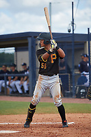 Pittsburgh Pirates Ji-Hwan Bae (56) at bat during a Florida Instructional League game against the New York Yankees on September 25, 2018 at Yankee Complex in Tampa, Florida.  (Mike Janes/Four Seam Images)