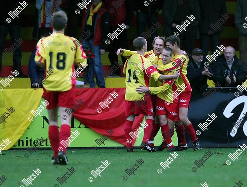 2008-11-16 / Voetbal / SV Bornem - E. Opstal / Bornem viert de 5-0..Foto: Maarten Straetemans (SMB)