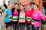 Oonagh O'Leary, Martina Lawless, Caroline Lynch, Tracy Smith and Kathy Jordan at the start of the Kerry's Eye Tralee, Tralee Half Marathon on Saturday.