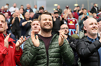 Burnley fans applaud their side at the final whistle <br /> <br /> Photographer Rich Linley/CameraSport<br /> <br /> The Premier League - Burnley v Manchester City - Sunday 28th April 2019 - Turf Moor - Burnley<br /> <br /> World Copyright © 2019 CameraSport. All rights reserved. 43 Linden Ave. Countesthorpe. Leicester. England. LE8 5PG - Tel: +44 (0) 116 277 4147 - admin@camerasport.com - www.camerasport.com
