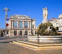 France, Languedoc-Roussillon, Département Hérault, Montpellier: Place de la Comedie and Opera House | Frankreich, Languedoc-Roussillon, Département Hérault, Montpellier: Hauptstadt der Region Languedoc-Roussillon, Place de la Comedie und das Opernhaus