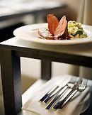 AUSTRIA, Vienna, a venison dish at Restaurant Osterreicher im MAK, the Museum for Applied Arts