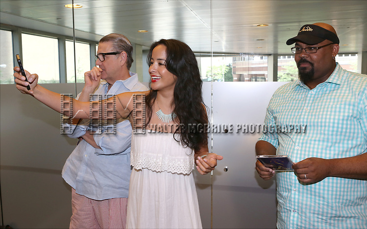 Jonathan Freeman, Courtney Reed and James Monroe Iglehart attend the 'Aladin' Broadway Cast CD Signing at Barnes & Noble Citigroup Center on June 20, 2014 in New York City.
