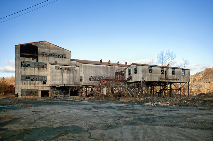 The Abandoned Mahanoy City coal breaker in Pennsylvania