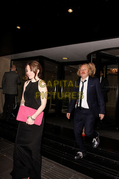 LONDON, ENGLAND - MARCH 18 : Jill Carter and Leigh Francis leave the RTS Programme Awards 2014 at Grosvenor House on March 18, 2014 in London, England.<br /> CAP/AH<br /> &copy;Adam Houghton/Capital Pictures
