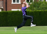25 JUN 2009 - LOUGHBOROUGH,GBR - Henry Jones -  Loughborough UCCE (purple and black) v Cambridge UCCE (blue) - UCCE Twenty 20 (PHOTO (C) NIGEL FARROW)