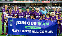 7th February 2020; HBF Park, Perth, Western Australia, Australia; A League Football, Perth Glory versus Wellington Phoenix; Perth Glory pose for team shot before the start of the match