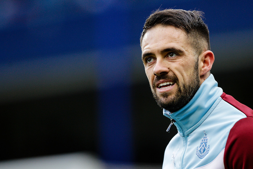 Burnley's Danny Ings during the pre-match warm-up <br /> <br /> Photographer Craig Mercer/CameraSport<br /> <br /> Football - Barclays Premiership - Chelsea v Burnley - Saturday 21st February 2015 - Stamford Bridge - London<br /> <br /> &copy; CameraSport - 43 Linden Ave. Countesthorpe. Leicester. England. LE8 5PG - Tel: +44 (0) 116 277 4147 - admin@camerasport.com - www.camerasport.com