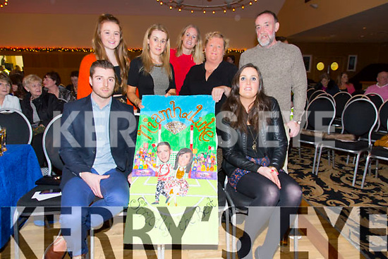 Alan Laid, Ashling Daly, Ava Kelleher, Ann Kelleher, Helen Tansley, Mary Brophy, Timmy Daly  at the St. Pats Blennerville Strictly come Dancing fundraiser at Ballyroe Heights Hotel on Friday