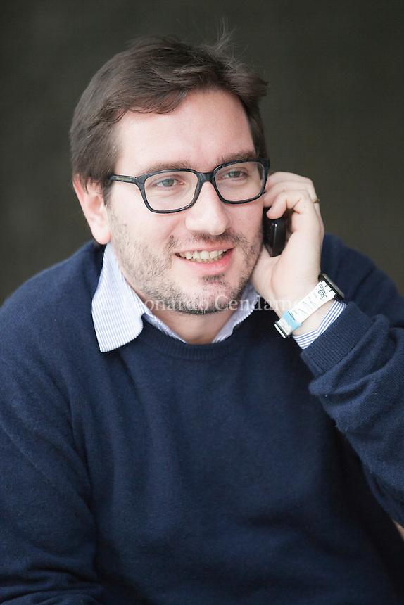 """Christian Caliandro è uno storico dell'arte italiano. È anche studioso di Cultural Studies; è inoltre esperto di politiche culturali. Insegna """"Media e narrative urbane"""" presso l'Università IULM di Milano. Milano, febbraio 2014. © Leonardo Cendamo"""