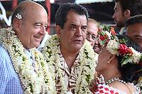 Alain JuppÈ & Edouard Fritch -<br /> Deplacement d'Alain JuppÈ a Tahiti dans le cadre de sa campagne pour les primaires aux elections presidentielles.