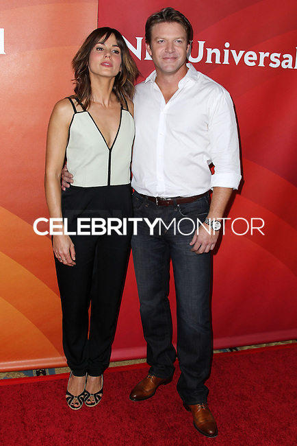PASADENA, CA, USA - APRIL 08: Stephanie Szostak, Matt Passmore at the NBCUniversal Summer Press Day 2014 held at The Langham Huntington Hotel and Spa on April 8, 2014 in Pasadena, California, United States. (Photo by Xavier Collin/Celebrity Monitor)