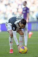 2nd February 2020; Allianz Stadium, Turin, Italy; Serie A Football, Juventus versus Fiorentina; Cristiano Ronaldo of Juventus sets the ball to take the penalty kick