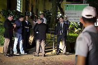 SAO PAULO, SP, 03.04.2015 - MORTE FILHO DO GOVERNADOR / SAO PAULO - Alexandre de Moraes, secretário de segurança pública no IML central de São Paulo. O filho do governador de são paulo morreu na tarde desta quinta-feira,02, após sofrer acidente de helicóptero em Carapicuíba na grande São Paulo. (Foto: Fernando Neves/ Brazil Photo Press).