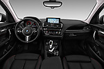 Stock photo of straight dashboard view of 2017 BMW 1-Series Sport 5 Door Hatchback
