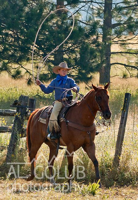 Cowboy Photography Workshop   Erickson Cattle Co. ..Wyatt Hansen.. Photo by Al Golub/Golub Photography