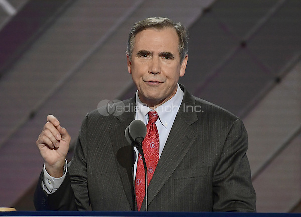 United States Senator Jeff Merkley (Democrat of Oregon) makes remarks at the 2016 Democratic National Convention at the Wells Fargo Center in Philadelphia, Pennsylvania on Monday, July 25, 2016.<br /> Credit: Ron Sachs / CNP/MediaPunch<br /> (RESTRICTION: NO New York or New Jersey Newspapers or newspapers within a 75 mile radius of New York City)
