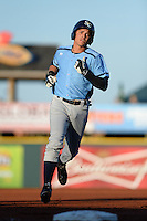 Charlotte Stone Crabs shortstop Willy Adames (2) runs the bases after hitting a home run during a game against the Bradenton Marauders on April 22, 2015 at McKechnie Field in Bradenton, Florida.  Bradenton defeated Charlotte 7-6.  (Mike Janes/Four Seam Images)