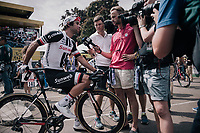 Michael Matthews (AUS/Sunweb) interviewed at the stage start<br /> <br /> 104th Tour de France 2017<br /> Stage 7 - Troyes &rsaquo; Nuits-Saint-Georges (214km)
