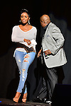 MIAMI, FL - JANUARY 17:  Actress/comedianne Sommore and Actor/Comedian Earthquake onstage during The Festival of Laughs day2 at James L Knight Center on Friday January 17, 2015 in Miami, Florida. (Photo by Johnny Louis/jlnphotography.com)